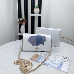 bolsas de grife de luxoTreinadorbolsas de ombro das mulheres ins de couro cadeia de desenhos animados malas 2020 venda quente novos com caixa
