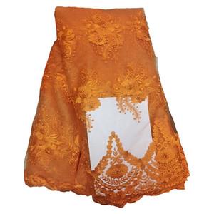 Nuovo tessuto africano del merletto del tessuto di DIY delle donne calde nuove di modo Tessuto di pizzo del tulle per il vestito da partito 5yards / piece 426-11