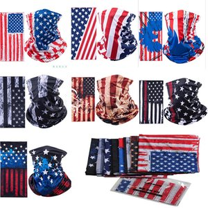 American Flag Sports Masks Magic Scarf Head band Outdoor Neck Warmer Cycling Bike Bicycle Riding Face Mask Head Scarf Scarves DA488