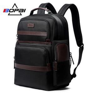 BOPAI Oxford Viaggi Laptop Backpack Men Casual Business Moda Maschile Office Work Zaino Borse Grande zaino della scuola per il maschio
