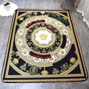 Geometrische Muster Luxus Teppich heißen Verkaufs-Anti-Rutsch-Teppich schwarz Wohnkultur Fußmatte Küche Badezimmer Wohnzimmer Bodenmatte Heim Supplie
