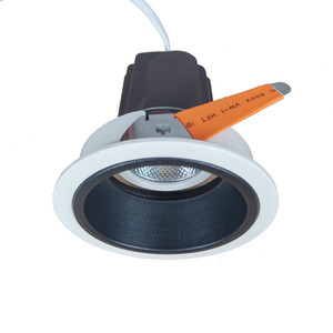 Deep COB Blendfreier schwarzer Reflektor 8W 10W LED-Strahler Eingebettetes justiertes Licht, 0-10V 1-10V Dimmbar