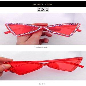 мода Кристалл Алмаз Ne street shot солнцезащитные очки Европейский и американский тренд кошачий глаз половина кадра солнцезащитные очки Street shot красочные Zocvl VHiFE