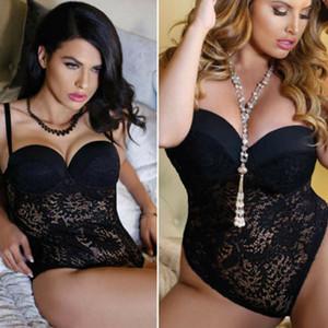 ABD Kadın Sexy-İç Babydoll Egzotik Giyim Yüksek Bel Katı Renk Dantel İç G-string kıyafeti Sleepwear Seti