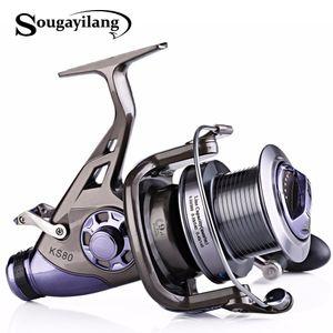 Sougayilang Карп рыболовная катушка металла золотника 9 + 1BB 4,1: 1 High Speed Spinning Reel Рыбалка Супер качество Drum Карп Reel De Песка