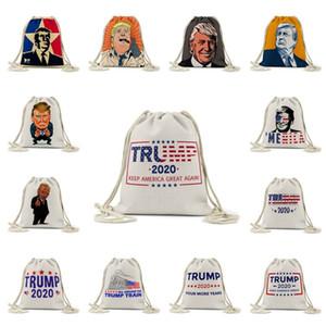 2020 Presidential Election Digital Printed Pattern Bundle Pocket Trump Beach Storage Bag Trump Shopping Bag Storage Bag T3I5881