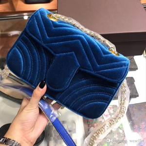 hot Marmont Samt sackt Handtaschenfrauen berühmte Marken Umhängetasche Sylvie Designer Luxus-Handtaschen Geldbörsen Kette Mode Umhängetasche 2018