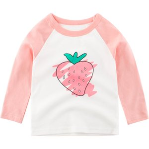 kids strawberry Pattern girls T-shirts for Kids Clothes Summer Baby Tops Shirts Cotton Children t-shirts