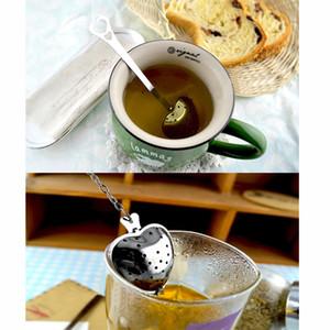 Чай Infusers любовь в форме сердца ложка Ситечко из нержавеющей стали круче ручка цепи регулируемая трава сыпучих листьев фильтр чайные пакетики