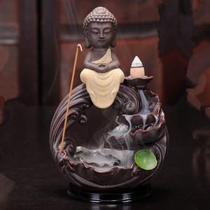 Seramik Rulai geri tütsü brülör lotus Guanyin Buda çay töreni Buda yaratıcı yer Tibet Kral süsler sandal ağacı