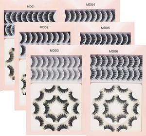 18 Pairs 3D Mink false eyelashes set thick natural long reusable handmade eyelash extensions 6 models fake lashes