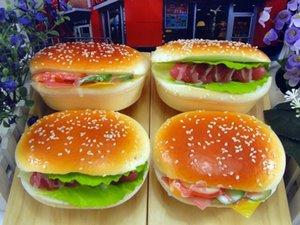Hamburger de simulation Cuisines Play Food Imitation et Dress-up enfants modèle burger rebond lent jouet simulation jouet alimentaire