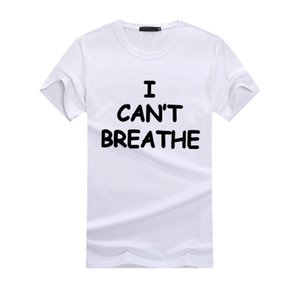 Mens Fashion T-shirts I CANT BREATHE Casual Tees Tops Men Women 2020 Summer Hot Sale Tshirts Luxury T Shirts 14 Styles Active Letter Tops