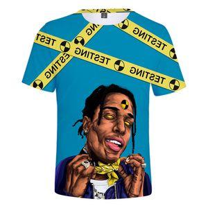 U.S.A Shirt 2019 Newborn Rap Singer Asap Rocky Shirts 3d Mesh Ventilazione manica corta T