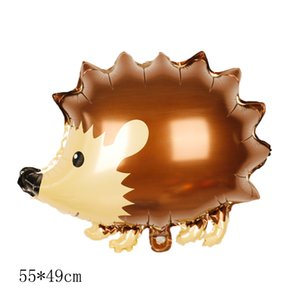 1pc Big Jungle Hedgehog Fox Raccoon squirrel Balloons Cartoon forest Animal Helium globos Birthday Party Decorations kids Toys