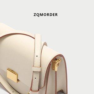 Luxurious2019 Catch Lock White Organ Woman Bag Xia Zhenpi Single Shoulder Package Concise Joker Cowhide Oblique Satchel
