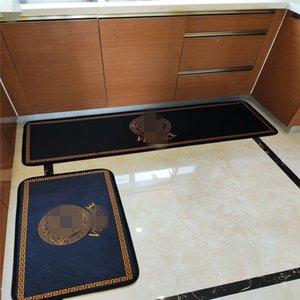 2PCS Klasik Mutfak No-slip Halı Harf Desen Yeni Kapı Mats Yüksek Kalite Sıcak Satış Euramerica Ayak Paspas Ücretsiz Gemi