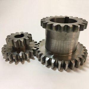 Freeshipping 2pcs / Set Cj0618 Зубы T29Xt21 T20Xt12 Двойной Dears Металл Токарный передач Дубликат механизм двойной шестерни
