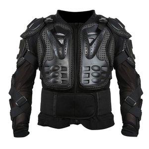 Liplasting New Black completa Motorcycle Body Armor shirt Jacket Motocross Voltar Shoulder Protector engrenagem S-XXXL Veste Jacket de moto