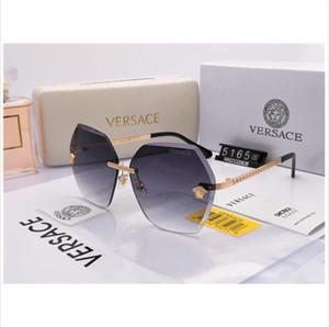 Avrupa ve Amerikan tarzı seçkin erkek ve kadın giyim markası güneş gözlüğü çerçevesi metal reçine objektif güneş gözlüğü gözlüğü