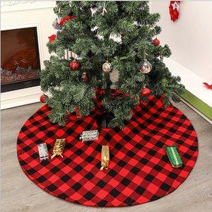 48inch 120 centimetri Albero di Natale gonna a ruota Carpet Decorazioni di natale a casa Tappetino Capodanno 2019 Xmas Tree Gonne