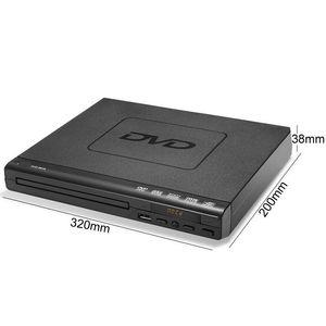 Freeshipping портативный DVD-плеер для ТВ Поддержка USB порта Компактный многорегиональной DVD / SVCD / CD / проигрывателя дисков с пультом дистанционного управления не поддерживает HD