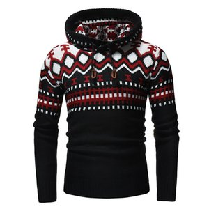 men's sweater autumn and winter high collar solid color twist bottoming shirt tide men's pullover casual sweater