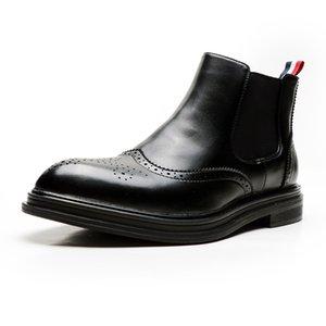 Bottes en cuir pour homme Chaussures Automne Hiver Bottes Casual Early hommes cheville marque de mode Chaussures A1791