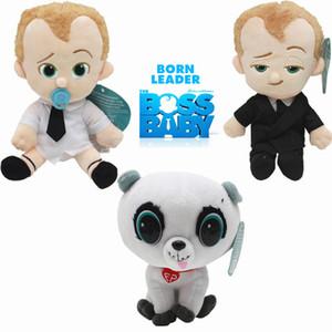 20CM Cartoon The Boss bébé Commonwealth Bonnet Diaper Puppy Dog Film TV Personnage en peluche Poupée souple Peluches Jouets en peluche