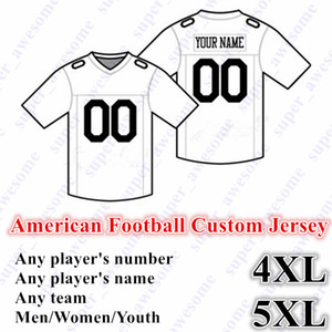 5XL NEW American Football CUSTOM Jersey Alle 32 Teams Customized irgendein Name irgendeine Größe Anzahl S-6XL Mix Auftrag Männer Frauen Jugend Kinder genähtes