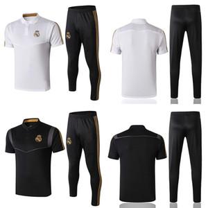Tuta da calcio Real Madrid 19 20 T-shirt da allenamento e pantaloni da allenamento per uomo Tute da calcio per il tempo libero Set per sportivi all'aperto per adulti