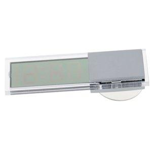 mesa escritorio un reloj digital llevó Saat pared pequeña oficina al aire libre alarma de bricolaje mesa coulocks temperatura de baño espejo de piso
