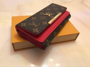 Бесплатная доставка Оптовые красный Bottom дамы Длинный кошелек Multicolor высокого качества конструкции Портмоне Case Card Первоначально коробка Женщины Классический Zip POC