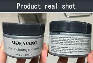الجدة مبيعات رمادي الطين الشعر لون الشعر الشمع المصنع مباشرة 9 منتجات الشعر لون بقعة الجملة 6pcs