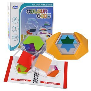 لعبة لعبة المنطق المجلس 100 تحدي لون رمز لغز ألعاب ال Tangram لغز ألعاب للأطفال تطوير المكانية مهارات التفكير