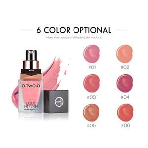 Ins Hot! Makeup Blush Long-Lasting Silky Brightening Facial MakeupNatural Peach Pink 6 Color Liquid Blush Free Shipping I0201