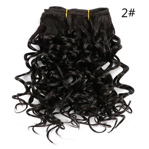 "Lanso Marly Bob Hair Extensions 8""Inch Ombre Synthetic Marly Jerry curl Jamaican Bounce Crochet Hair 110g pc Afro Kinky Curly Crochet Braids"