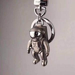 Cadena dominante del coche de moda de metal sólido de alta calidad llavero creativo de la marca astronauta diseño hombres y mujeres de lujo cadena dominante caja de regalo embalaje