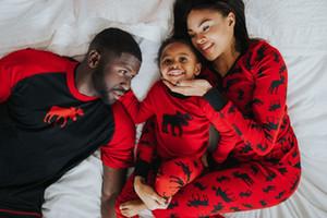 Горячая Мода Семья Соответствия Рождество Пижамы Набор Мама Папа Малыш Красная Полоса Пижамы Пижамы Xmas Взрослый Ребенок Топы Брюки Наряды