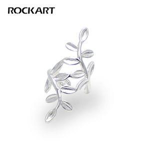 verdadeira Prata 925 Ear Cuff Belas autêntica jóia para mulheres Presente criativo 1pc Não Penetrante Laurel Folha