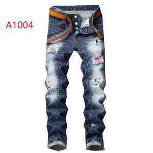 2019 nouvelle marque de jeans décontractés pour hommes européens et américains à la mode, lavage de haute qualité, meulage à la main, optimisation de la qualité