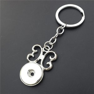 Butterfly Keyring 18mm Snap Buttons Keychain for Women Girls Jewelry 12 Pieces  Lot Animal Shape Round Pendant Key Chain Rings