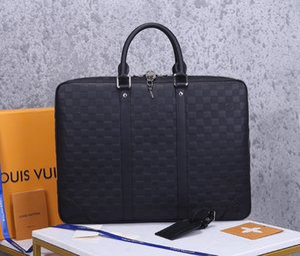 Hommes d'affaires Porte-documents Sac en cuir de luxe de sac pour ordinateur portable Bureau de grande capacité Porte-documents pour hommes Sacs à bandoulière spacieux design d'intérieur