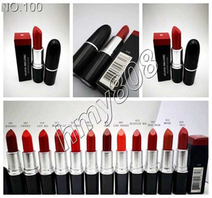 Maquillaje Matte Lipstick Batom Fosco con nombre English Name Matte Lip Stick Color Ruby Woo 12 colores diferentes