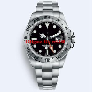 Mens Relógios 216570 214270 Relógio Automático dos homens GMT Explorer II 42mm Pulseira de Aço Inoxidável relógios de Pulso