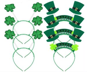 Green Shamrock Headband Plastic Hair Ornaments Irlanda St Patricks Day Party Supplies Designer Fasce Factory Direct SN2059
