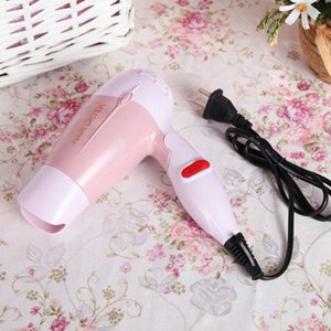 220V Folding Mini Hair Dryer with Nozzle Adjustable Airflow Fast Drying Low Noise Portable Travel Household Hair Dryer US Plug