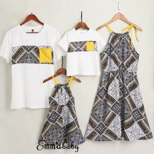 Corrispondenza Famiglia Outfit donne Madre e figlia Abiti Uomini vestiti del ragazzo T-shirt