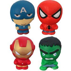 giocattoli Squishy aumento lento I Vendicatori Iron Man Capitan America Spiderman Hulk giocattolo di compressione Squishies stress giocattoli sollievo giocattoli per i bambini