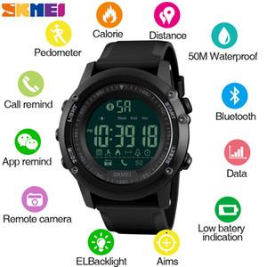 SKMEI de hombre Mens Bluetooth Camara contrôle Wristwatch Homme numérique intelligent Sport Homme Montres Horloge reloj hombre 1321